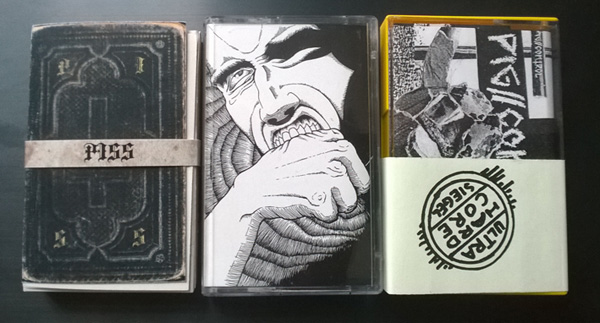 picture of three demo tapes by Berlin punk bands